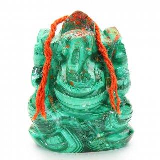 マラカイト・ガネーシャ神像(222グラム)