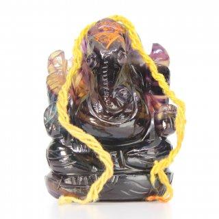 フローライト・ガネーシャ神像(約182グラム、高さ約6.5cm)