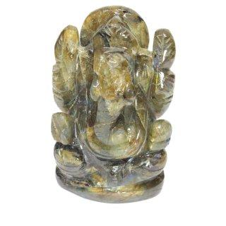 ラブラドライト・ガネーシャ神像(約161グラム)