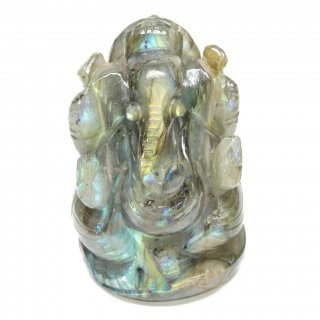 ラブラドライト・ガネーシャ神像(約195グラム、高さ約7.8cm)