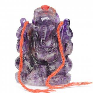 アメジスト・ガネーシャ神像(約254グラム)