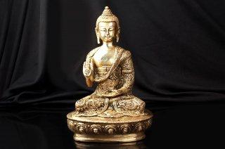 仏陀座像(真鍮製、シンプル)(受注製作)