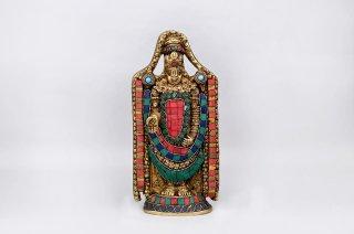 シュリーニヴァーサ・バラジ神像(真鍮製、石細工)(受注製作)