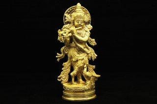 ムラリー・クリシュナ神像(真鍮製)(受注製作)