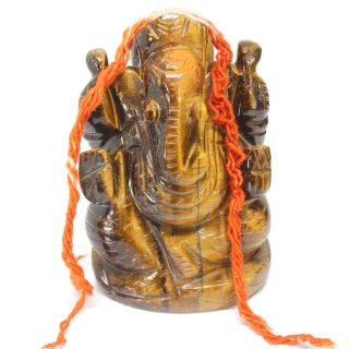 タイガーアイ・ガネーシャ神像(約144グラム)