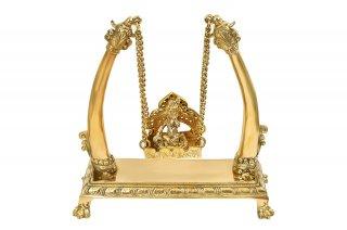 バーラ・クリシュナ神像(真鍮製、ブランコ)(受注製作)