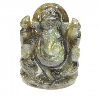 ラブラドライト・ガネーシャ神像(約302グラム)