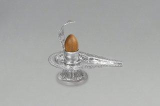 ナルマダーシヴァリンガム(洋銀製ヨーニ付)(約112グラム)(受注発注品)