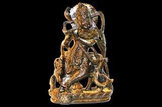 タイガーアイ・クリシュナ神像(受注発注品)
