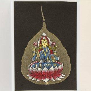 菩提樹の葉の絵葉書 ラクシュミー(A)