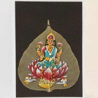 菩提樹の葉の絵葉書 ラクシュミー(B)