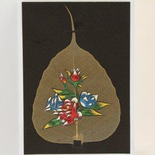 菩提樹の葉の絵葉書 フラワー(A)