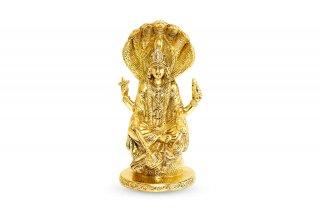 ヴィシュヌ神像(真鍮製、高さ約20cm)(受注製作)