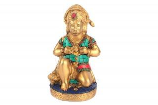 ハヌマーン神像(真鍮製、石細工)(受注製作)