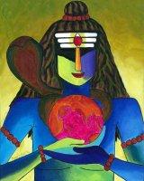 地球を包み持つシヴァ神 By Priya Krishnan Das