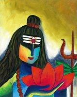 睡蓮をもつシヴァ神 By Priya Krishnan Das