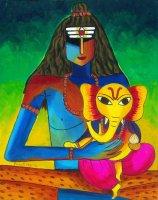 シヴァ神とガネーシャ神 By Priya Krishnan Das