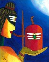 シヴァ神とリンガム By Priya Krishnan Das
