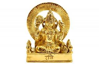 スーリヤ神像(真鍮製)(受注製作)