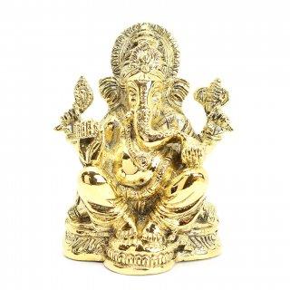 ガネーシャ神像(真鍮製、高さ約11cm)