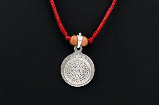 クベーラ・ヤントラ・シルバーペンダントトップ(受注製作)