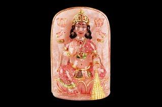ローズクォーツ・ラクシュミー女神像(彩色、約760g)(受注発注品)