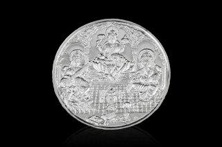 ガネーシャ&ラクシュミー&サラスワティー・シルバー・コイン(20グラム)(受注製作)