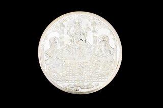 ガネーシャ&ラクシュミー&サラスワティー・シルバー・コイン(50グラム)(受注製作)