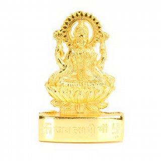 ラクシュミー像(Gold Polish、卓上、高さ約7cm)