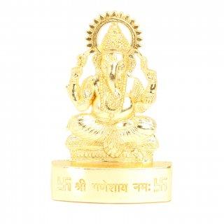 ガネーシャ像(Gold Polish、卓上、高さ約7cm)