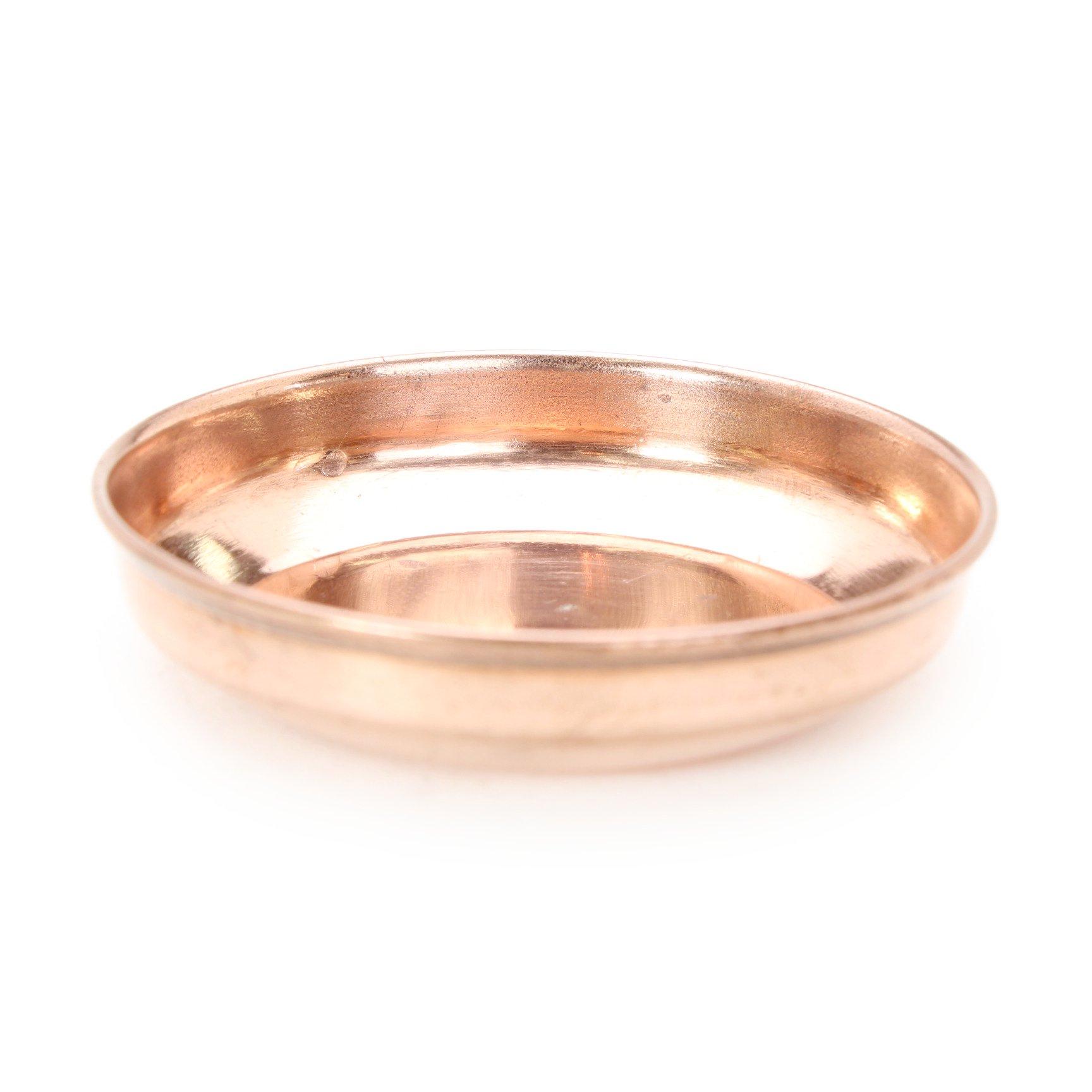 銅製プレート(プレーン、直径約7.7cm)