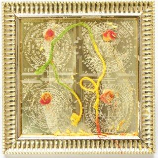 マハーラクシュミー・マハー・ヤントラ(16cm×16cm、額入り)