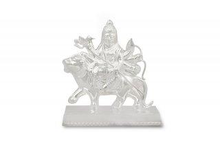 ドゥルガー女神像(シルバー、約68グラム)(受注製作)