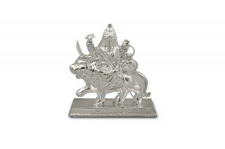 ドゥルガー女神像(シルバー、約146グラム)(受注製作)