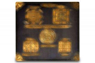 シュリー・ヴァーストゥ・マハーヤントラ(約23cm×23cm、アンティーク調、真鍮製)(受注製作)