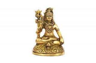 シヴァ神座像(真鍮製、高さ約11cm)(受注製作)