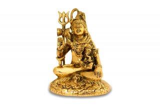 シヴァ神座像(真鍮製、高さ約18cm)(受注製作)