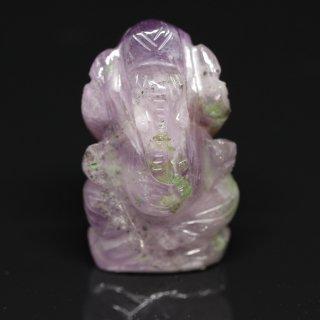 アメジスト・ガネーシャ神像(約12グラム、高さ約3.3cm)