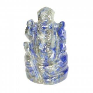 ラピスラズリ・ガネーシャ神像(約10グラム、高さ約2.3cm)