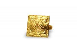 シュリー・ヤントラ(マハー・メール)・ゴールド(22K)・リング(受注発注品)