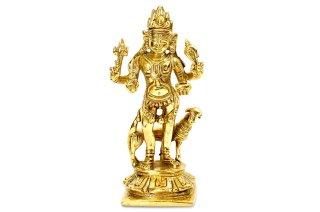 カーラ・バイラヴァ神像(高さ約13.2cm、真鍮製)(受注製作)
