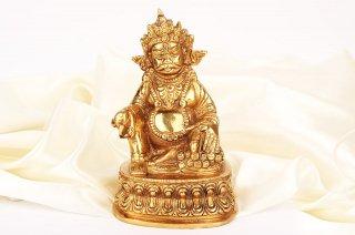 クベーラ神像(真鍮製、高さ約14.5cm)(受注製作)