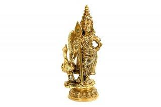 カールッティケーヤ神像(真鍮製、高さ約15.2cm)(受注製作)