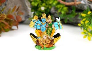 シュリーマン・ナーラーヤナ神像(シャーラグラーマ、143グラム)(受注発注品)