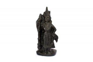ウドゥピ・クリシュナ神像(シャーラグラーマ、41グラム)(受注発注品)