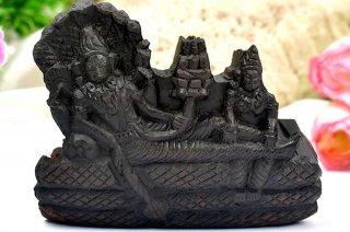 アナンタ・パドマナーバ神像(シャーラグラーマ、285グラム)(受注発注品)