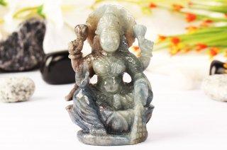 ブルーサファイア・ラクシュミー女神像(約97g)(受注発注品)