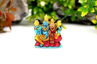 ラクシュミー・ナーラーヤナ神像(シャーラグラーマ、84グラム)(受注発注品)