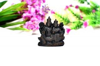 ラクシュミー・ナーラーヤナ神像(シャーラグラーマ、91グラム)(受注発注品)