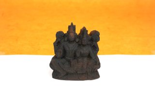 ラクシュミー・ナーラーヤナ神像(シャーラグラーマ、98グラム)(受注発注品)